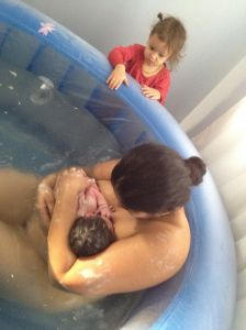 Natural Unassisted Home Water Birth Video